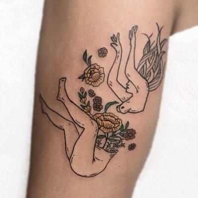 tatuaje estilo fineline
