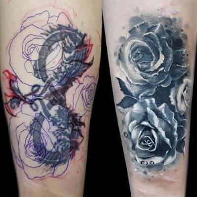tatuaje estilo cover up