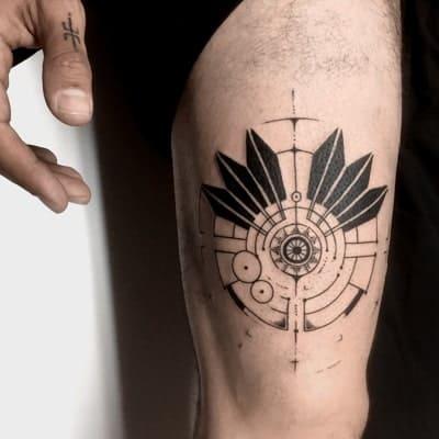 tatuaje estilo geometrico