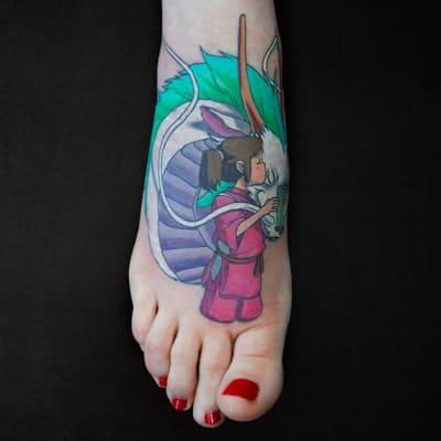 tatuaje estilo cartoon